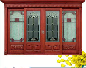 Trung Quốc Red  Carve patterns solid Wooden Automatic telescoping sliding doors nhà phân phối