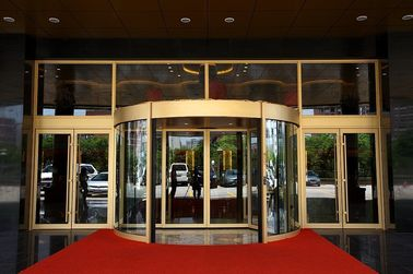 Trung Quốc Luxurious building entrance Automatic curved sliding door Of Aluminium / steel frame nhà máy sản xuất
