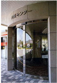 Trung Quốc Round Automatic Curved Sliding Door , hotel auto sliding glass door nhà máy sản xuất